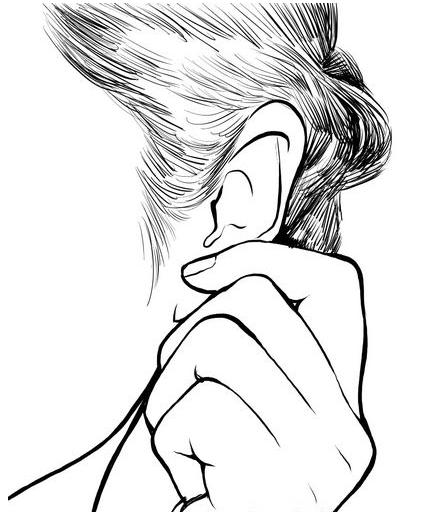 怎么画耳朵手绘